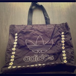 Adidas large canvas logo tote